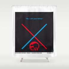 No155 My STAR Episode V The Empire Strikes Back WARS minimal movie poster Shower Curtain