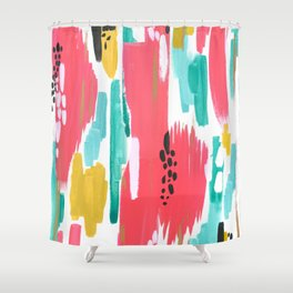 Watermelon Abstract  Shower Curtain