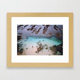 indonesian ocean Framed Art Print