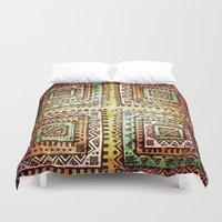 quilt Duvet Covers featuring Ancient Quilt by Robin Curtiss