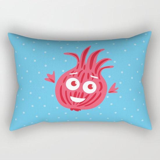 Cute Red Onion Rectangular Pillow