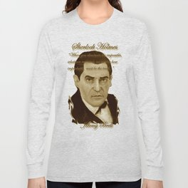 J. Brett as Sherlock Holmes Sepia Long Sleeve T-shirt