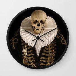 Lord Tudor Skull with ruff Wall Clock