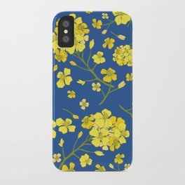 Floral Love of Mustard iPhone Case