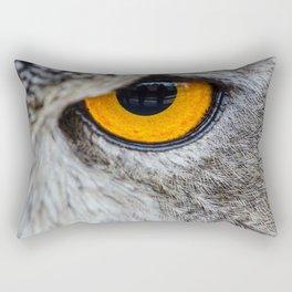 NIGHT OWL - EYE - CLOSE UP PHOTOGRAPHY - ANIMALS - NATURE Rectangular Pillow