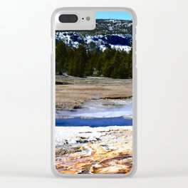 Castle Geyser-Yellowstone Clear iPhone Case