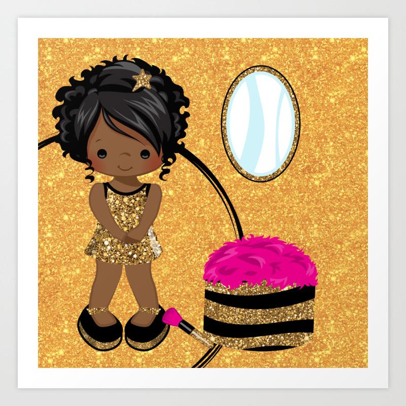 With art afro girl black Black girl