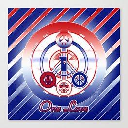 One Love (Patriot) Canvas Print