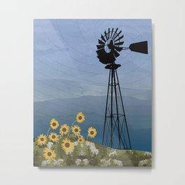 Wind Pump American Style Windmill Metal Print