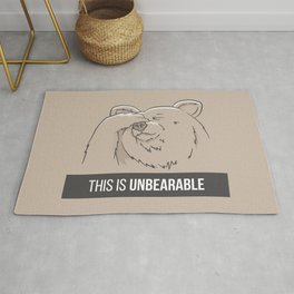 This Is Unbearable Rug
