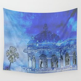India in Indigo Wall Tapestry