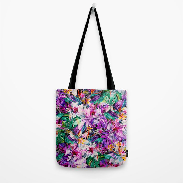 Seamless Floral And Paisley Pattern Tote Bag