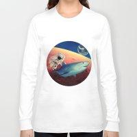 shark Long Sleeve T-shirts featuring Shark by Cs025