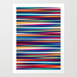 Blurry Lines Art Print