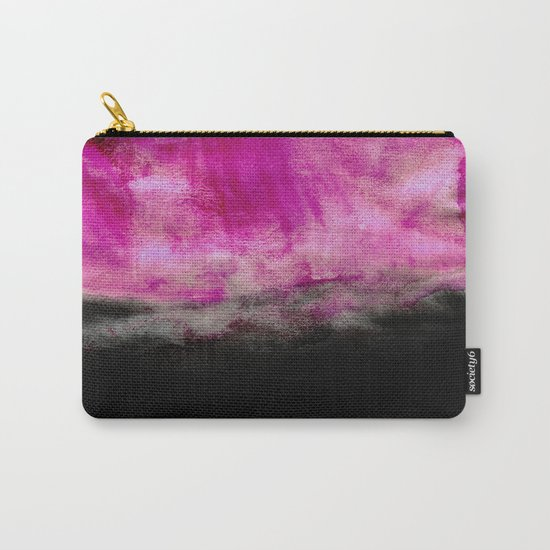 Magenta & Black Carry-All Pouch