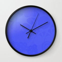 Neutral background of blue tones. Wall Clock