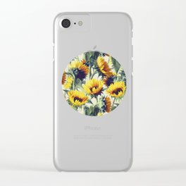 Sunflowers Forever Clear iPhone Case
