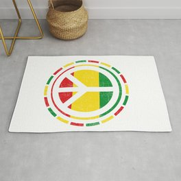 Distressed Rasta Peace design Gift for Reggae Lovers product Rug