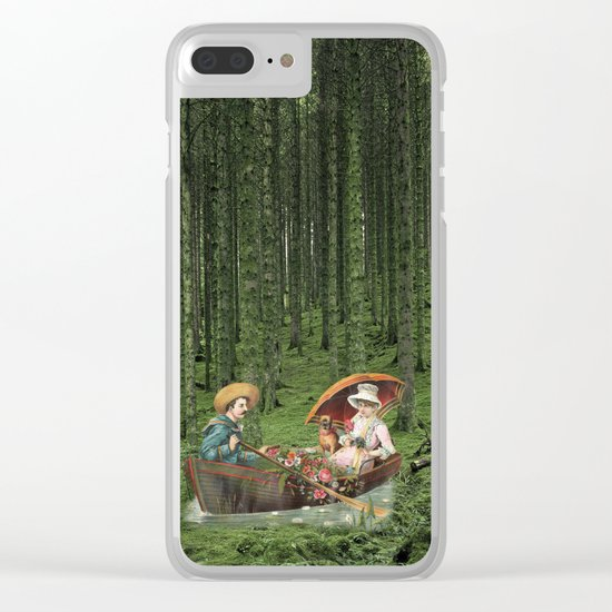 THE STROLL Clear iPhone Case