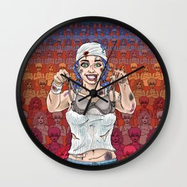 The Battle of the Sports Bra Wall Clock