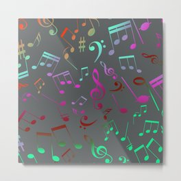 Musical Notes 15 Metal Print