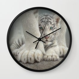 White Tiger Cub - Sheltered Wall Clock