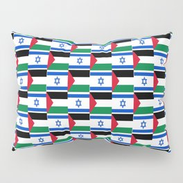 Mix of flag : Israel and Paslestine Pillow Sham
