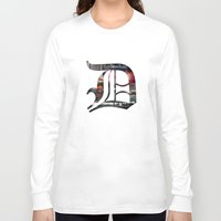 detroit Long Sleeve T-shirts featuring Detroit by Speed-Photos