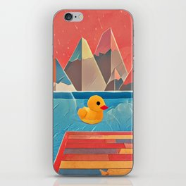 Little duck in the pool iPhone Skin