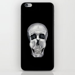 Black White & Skull iPhone Skin