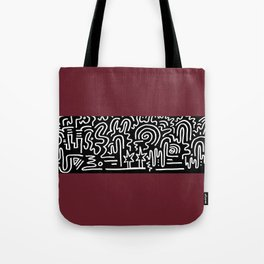 Clean Stripe (Brick) Tote Bag