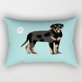 rottweiler funny farting dog breed pure breed pet gifts Rectangular Pillow