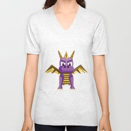 Spyro vector character fanart Unisex V-Neck