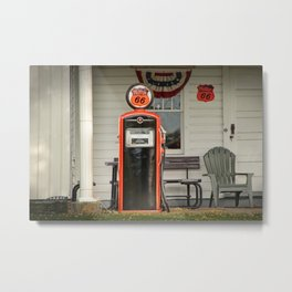 Phillips 66 Vintage Gas Pump Metal Print