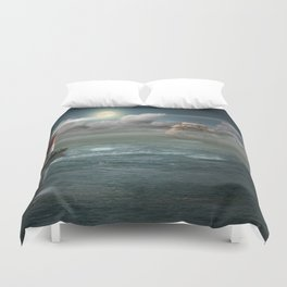 Lighthouse Under Back Light Duvet Cover