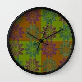 Flower Pattern6 Wall Clock