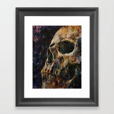 Gold Skull Framed Art Print