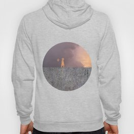 Sunset with girl walking on a wall followed by a balloon Hoody