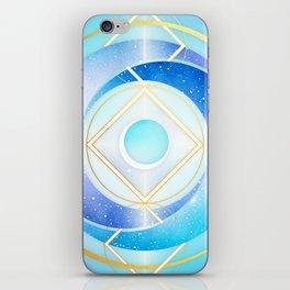 Icy Golden Winter Swirl :: Floating Geometry iPhone Skin