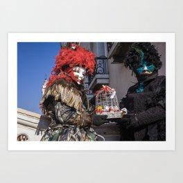 Carnival masks in Venice, Italy Art Print