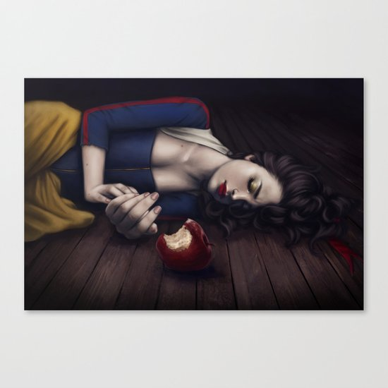 Poisoned apple Canvas Print