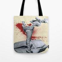 medicine Tote Bags featuring Bad medicine by Oscar Varona