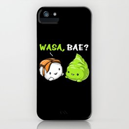 Sushi Wasabi Cute Couple Wasa Bae iPhone Case