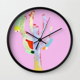 cactus colorful 8 Wall Clock