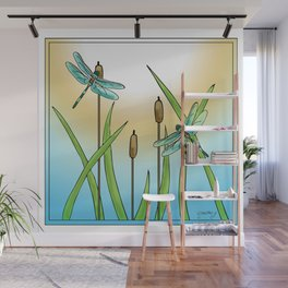 Dragonflies Fly Wall Mural