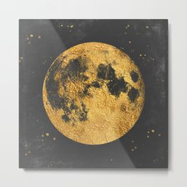 Gold Moon Metal Print