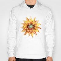 sunflower Hoodies featuring Sunflower by Klara Acel