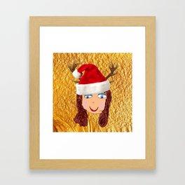 Gold Christmas | Kids Painting | Christmas Spirit Framed Art Print