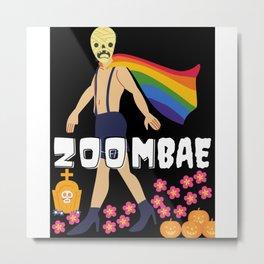 Zoombie Halloween Metal Print