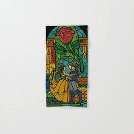 Beauty and The Beast - Stained Glass Hand & Bath Towel